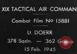 Image of USAAF gun camera footage World War 2 European Theater, 1945, second 6 stock footage video 65675045661