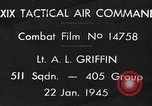 Image of strafing European Theater, 1945, second 1 stock footage video 65675045665