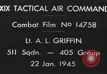 Image of strafing European Theater, 1945, second 2 stock footage video 65675045665
