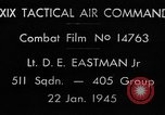 Image of strafing European Theater, 1945, second 2 stock footage video 65675045666
