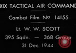 Image of strafing European Theater, 1944, second 2 stock footage video 65675045673