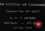 Image of strafing European Theater, 1945, second 1 stock footage video 65675045681