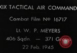 Image of strafing European Theater, 1945, second 3 stock footage video 65675045681