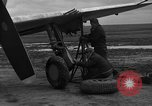 Image of Mechanics performing maintenance on P-47s Chievres Belgium, 1944, second 8 stock footage video 65675045686