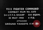 Image of strafing European Theater, 1944, second 2 stock footage video 65675045710