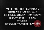 Image of strafing European Theater, 1944, second 3 stock footage video 65675045710
