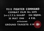 Image of strafing European Theater, 1944, second 4 stock footage video 65675045710
