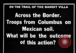 Image of US Army troops searching for Pancho Villa Mexico, 1916, second 3 stock footage video 65675045878