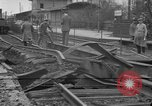 Image of damaged railroad Germany, 1914, second 1 stock footage video 65675045942