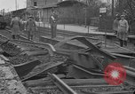Image of damaged railroad Germany, 1914, second 2 stock footage video 65675045942