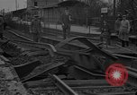 Image of damaged railroad Germany, 1914, second 4 stock footage video 65675045942