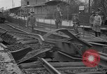 Image of damaged railroad Germany, 1914, second 5 stock footage video 65675045942