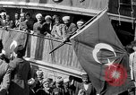 Image of Turkish Nationalists pose on dock Samsun Turkey, 1922, second 3 stock footage video 65675045953