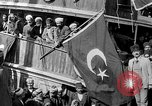 Image of Turkish Nationalists pose on dock Samsun Turkey, 1922, second 4 stock footage video 65675045953