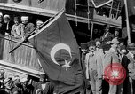 Image of Turkish Nationalists pose on dock Samsun Turkey, 1922, second 6 stock footage video 65675045953