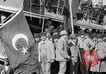 Image of Turkish Nationalists pose on dock Samsun Turkey, 1922, second 9 stock footage video 65675045953