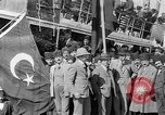 Image of Turkish Nationalists pose on dock Samsun Turkey, 1922, second 11 stock footage video 65675045953