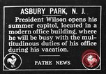 Image of President Woodrow Wilson summer white house office Asbury Park New Jersey USA, 1917, second 1 stock footage video 65675045971