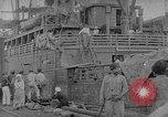 Image of relief supplies to Russia during revolution and world war 1 Novorossiysk Russia, 1917, second 1 stock footage video 65675045974
