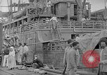 Image of relief supplies to Russia during revolution and world war 1 Novorossiysk Russia, 1917, second 8 stock footage video 65675045974