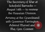 Image of Dwight F Davis Schofield Barracks Hawaii USA, 1928, second 5 stock footage video 65675046036