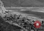 Image of Searching for ambergris on a beach Bolinas Beach California USA, 1934, second 4 stock footage video 65675046047