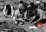 Image of Searching for ambergris on a beach Bolinas Beach California USA, 1934, second 9 stock footage video 65675046047