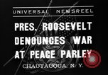 Image of President Franklin Roosevelt Chautauqua New York USA, 1936, second 3 stock footage video 65675046090