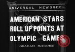 Image of United States athletes in 1936 Olympics Berlin Germany, 1936, second 4 stock footage video 65675046091