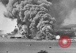 Image of Clouds of smoke from burning US warships Pearl Harbor Hawaii USA, 1942, second 1 stock footage video 65675046117