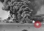 Image of Clouds of smoke from burning US warships Pearl Harbor Hawaii USA, 1942, second 2 stock footage video 65675046117