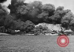 Image of Clouds of smoke from burning US warships Pearl Harbor Hawaii USA, 1942, second 9 stock footage video 65675046117