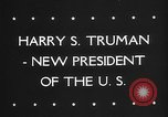 Image of Harry Truman United States USA, 1945, second 6 stock footage video 65675046119