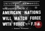 Image of President Franklin Roosevelt Washington DC USA, 1939, second 12 stock footage video 65675046120