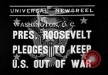 Image of President Franklin Roosevelt Washington DC USA, 1939, second 3 stock footage video 65675046129