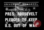 Image of President Franklin Roosevelt Washington DC USA, 1939, second 5 stock footage video 65675046129