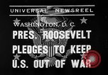 Image of President Franklin Roosevelt Washington DC USA, 1939, second 6 stock footage video 65675046129