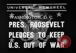 Image of President Franklin Roosevelt Washington DC USA, 1939, second 7 stock footage video 65675046129