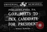 Image of Republican National Convention Philadelphia Pennsylvania USA, 1940, second 2 stock footage video 65675046139