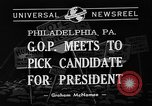 Image of Republican National Convention Philadelphia Pennsylvania USA, 1940, second 4 stock footage video 65675046139