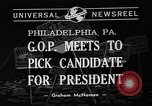 Image of Republican National Convention Philadelphia Pennsylvania USA, 1940, second 6 stock footage video 65675046139