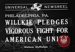 Image of Republican National Convention Philadelphia Pennsylvania USA, 1940, second 6 stock footage video 65675046141