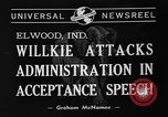 Image of Wendell Willkie Elwood Indiana USA, 1940, second 7 stock footage video 65675046146