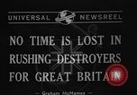 Image of Destroyers for Bases Atlantic Ocean, 1940, second 5 stock footage video 65675046147