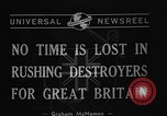 Image of Destroyers for Bases Atlantic Ocean, 1940, second 6 stock footage video 65675046147