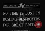 Image of Destroyers for Bases Atlantic Ocean, 1940, second 7 stock footage video 65675046147