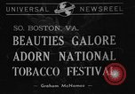 Image of National Tobacco festival 1940 South Boston Virginia USA, 1940, second 1 stock footage video 65675046153