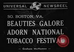 Image of National Tobacco festival 1940 South Boston Virginia USA, 1940, second 2 stock footage video 65675046153