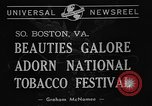 Image of National Tobacco festival 1940 South Boston Virginia USA, 1940, second 6 stock footage video 65675046153