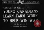 Image of Canadian people Toronto Ontario Canada, 1940, second 1 stock footage video 65675046157